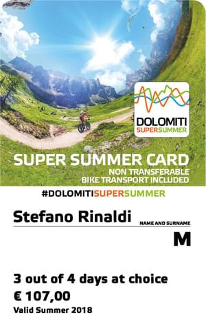 Dolomiti Supersummer Bike Card