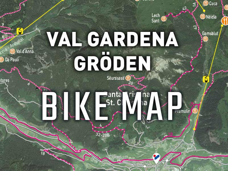Val Gardena Bike Map - Cartina ciclabile