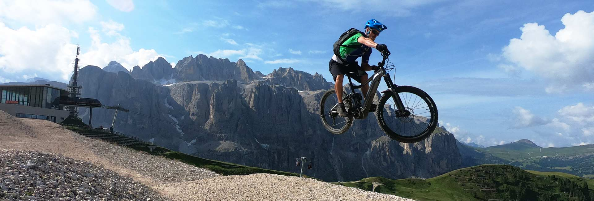Bike arena Val Gardena - jump line dantercepies