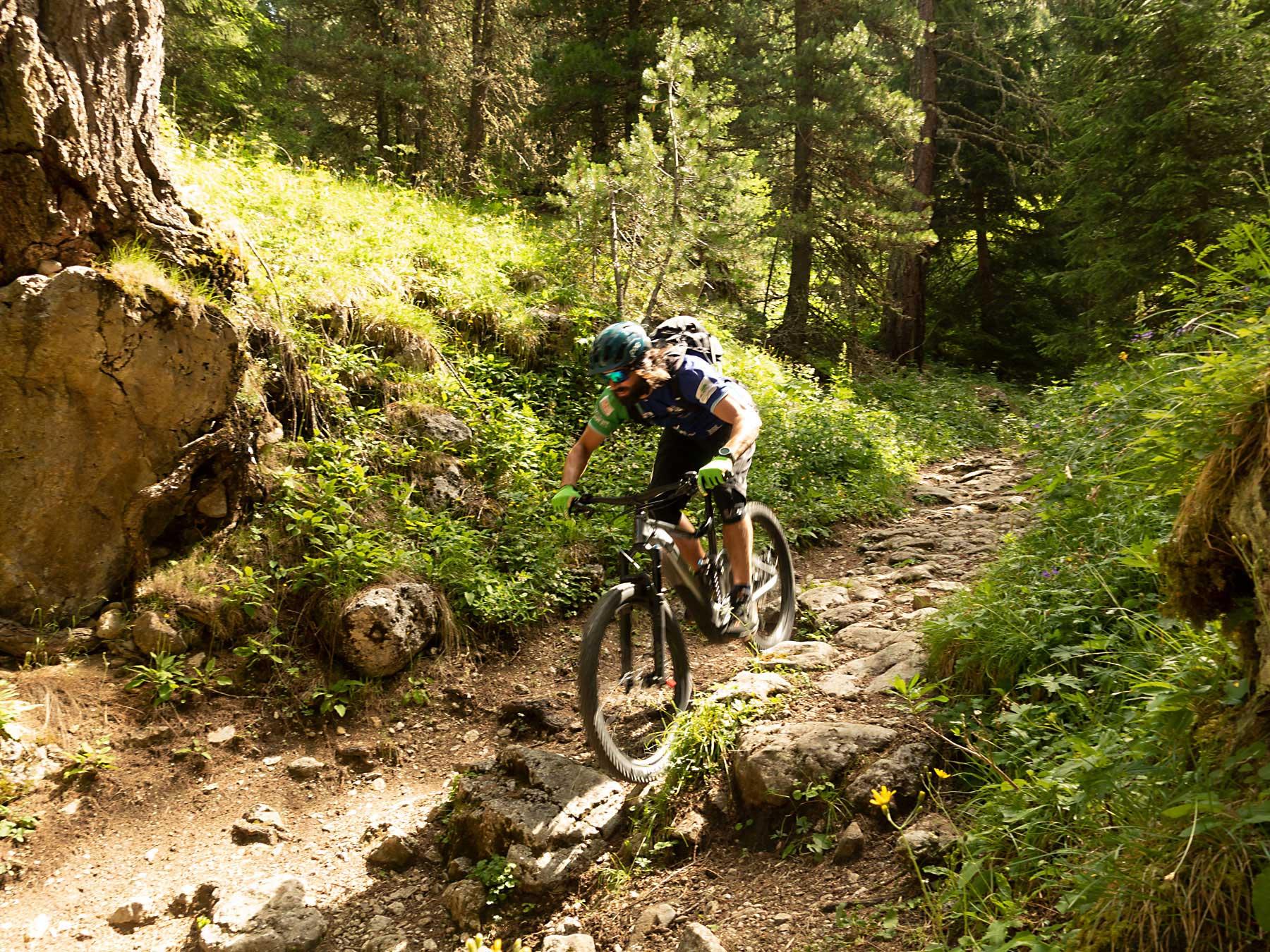 Mtb Trail nel bosco - Sellaronda mtb toure