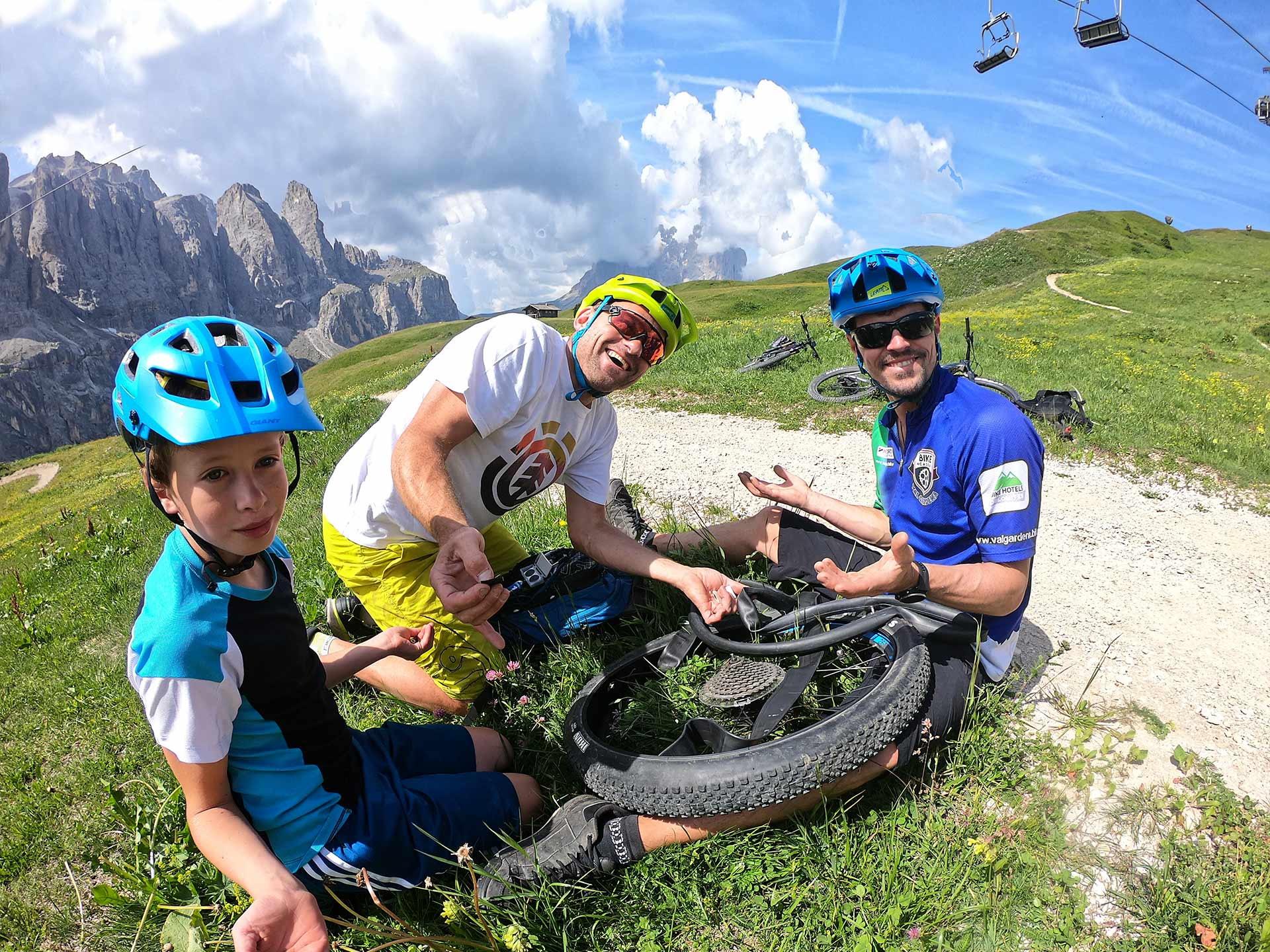 riparazione Bici on tour - mob trail in val gardena