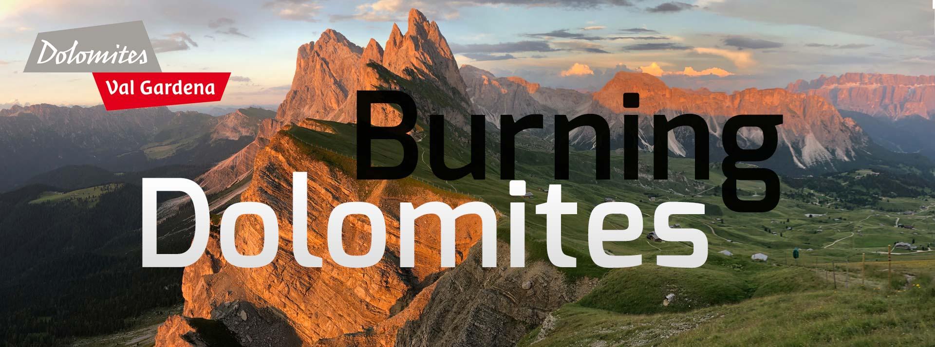 Burning Dolomites in autumn -